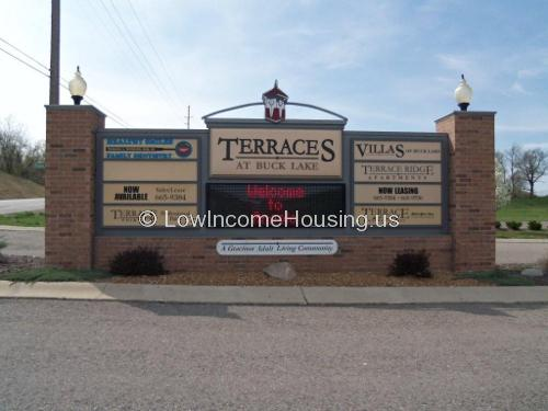 The entrance to the Terraces housing development.