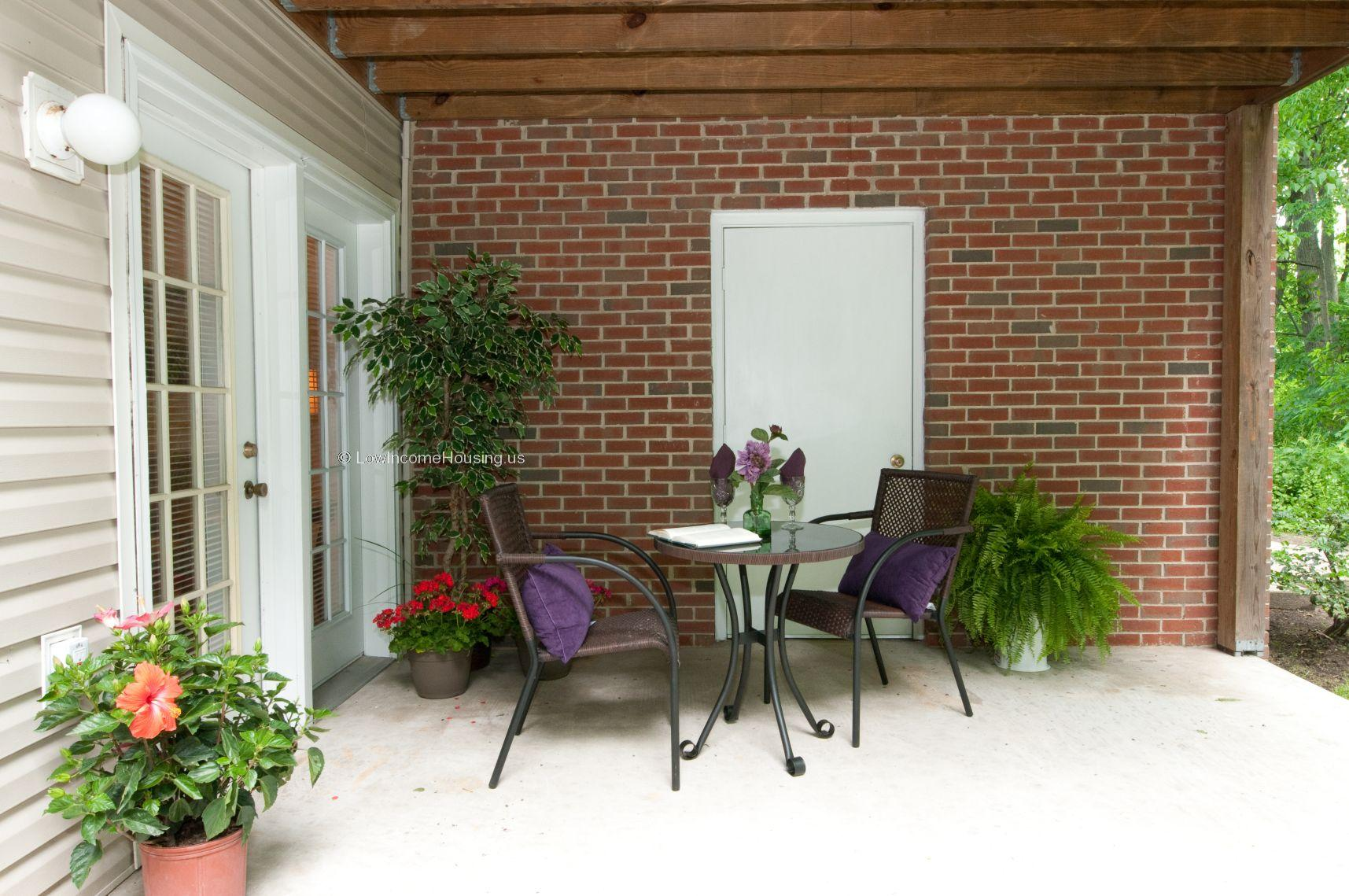 Wrought iron patio table and chairs were obtained locally and were delivered in 3 days.