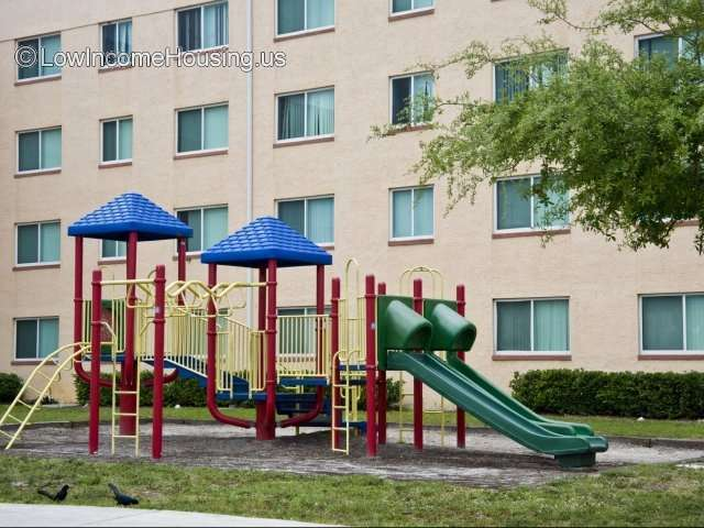 Senior Living Apartments with 28 apartments per housing block, recreation area installed for children