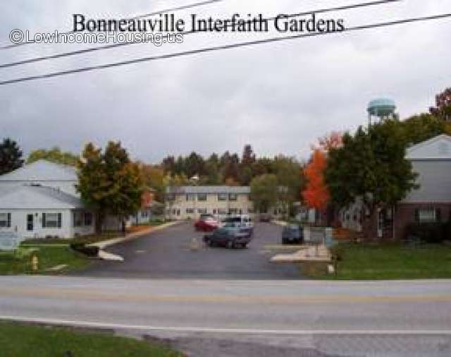 This is a photograph of the Bonneauville Interfaith Gardens