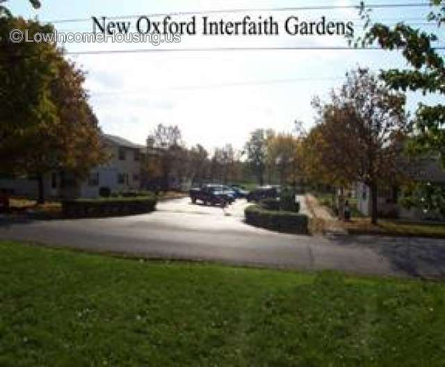 This is a photograph of the New Oxford Interfaith Gardens.