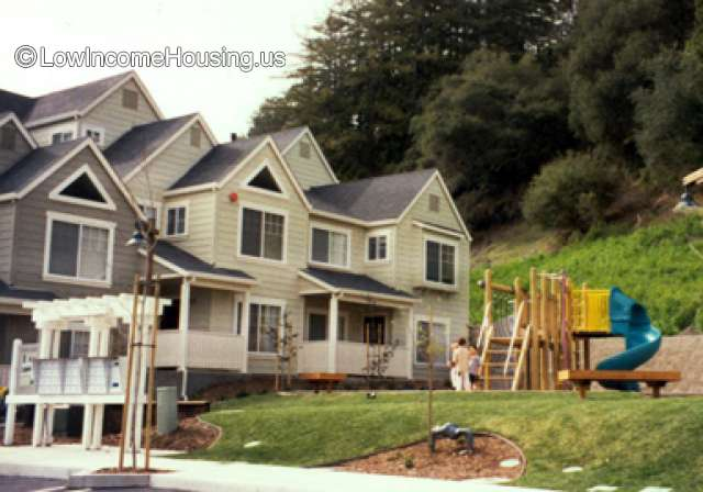 Wooden construction of living space - 7 dormer units with access to play ground facilities.